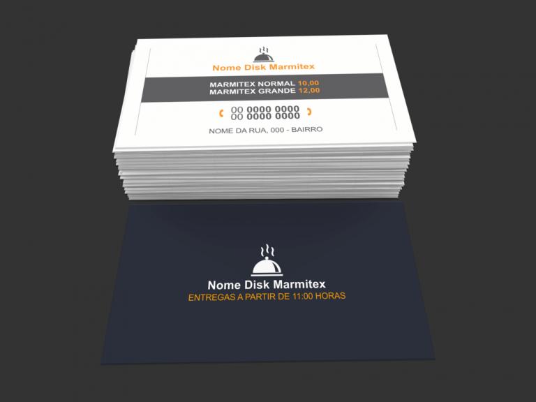 Cartões restaurante e marmitex - modelo 04