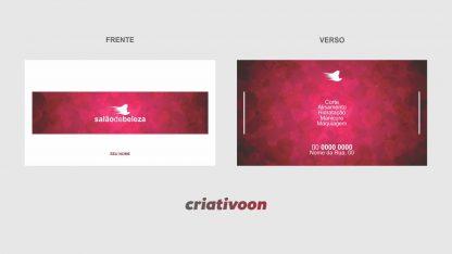 cartão de visita salão de beleza - modelo 01