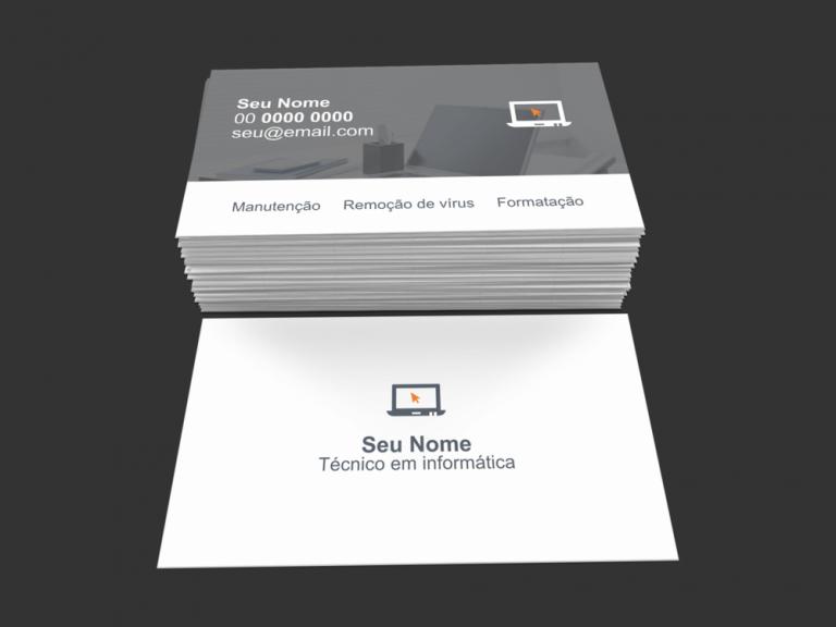 cartão de visita técnico em informatica - modelo 01