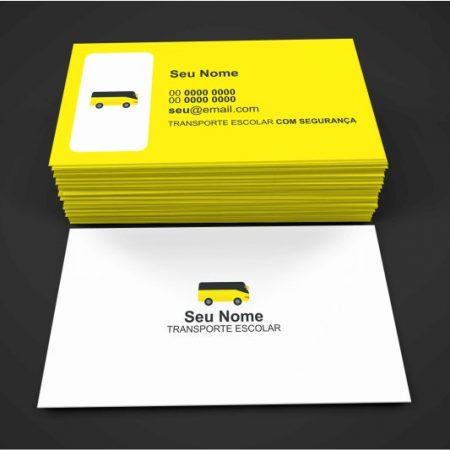 cartão de visita transporte escolar - modelo 01