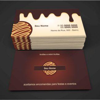 cartão de visita trufas - modelo 01