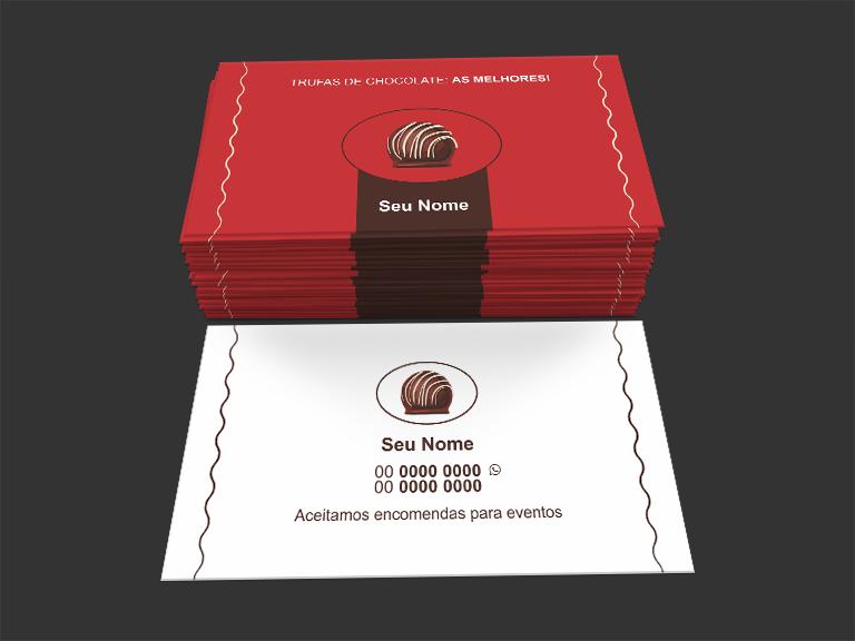 cartão de visita trufas - modelo 02