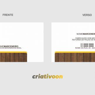 cartão de visita marceneiro - modelo 02