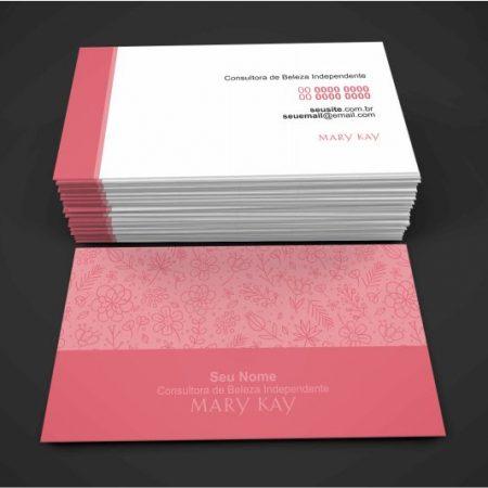 cartão de visita mary kay - modelo 02