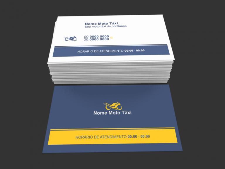 Cartão de visita taxista - modelo 01