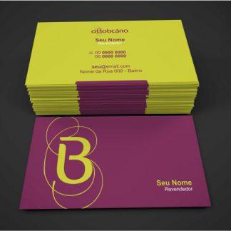 cartão de visita o boticario - modelo 02
