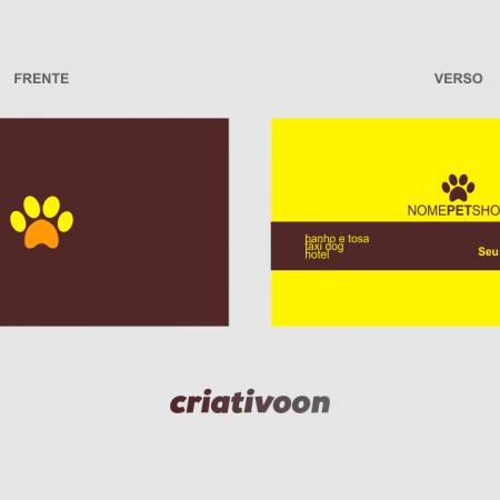 cartão de visita pet shop - modelo 02