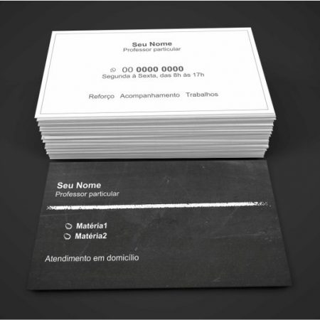 Cartão de Visita Professor Particular - modelo 02