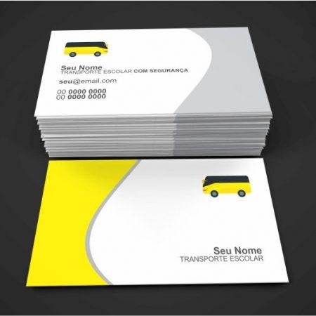 cartão de visita transporte escolar - modelo 02
