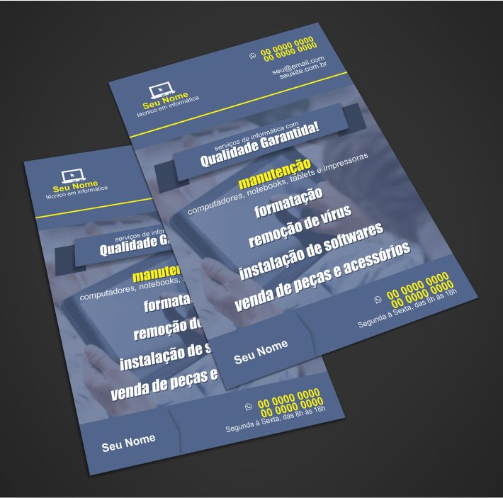Panfleto informatica - modelo 01