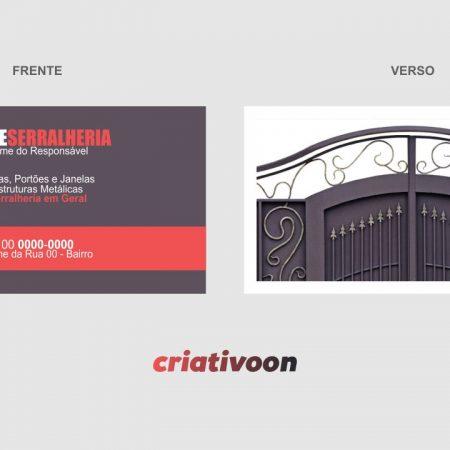 cartão de visita serralheria - modelo 02