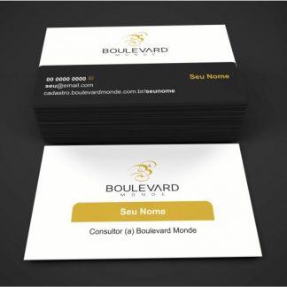 Cartão de visita boulevard monde - modelo 02