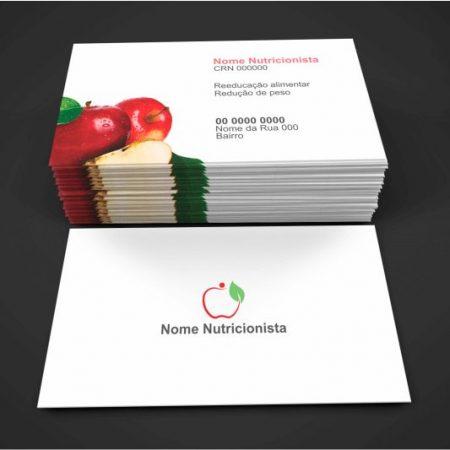 cartão de visita nutricionista - modelo 03
