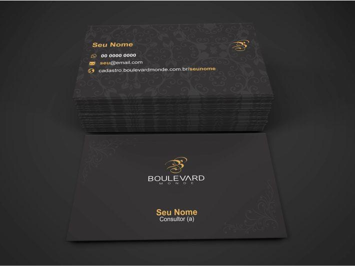 cartão de visita boulevard monde - modelo 01