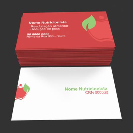 Cartão de visita nutricionista - modelo 01