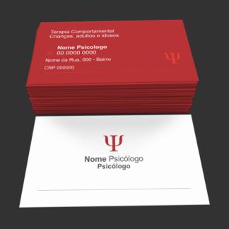 Cartão de visita psicólogo - modelo 01