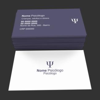 Cartão de visita psicólogo - modelo 04