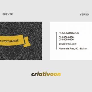 cartão de visita tatuador - modelo 01