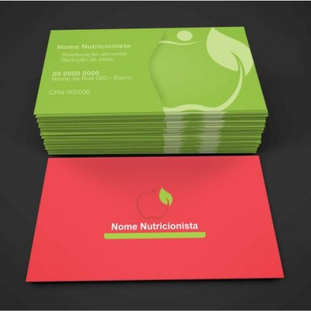 cartão de visita nutricionista - modelo 02