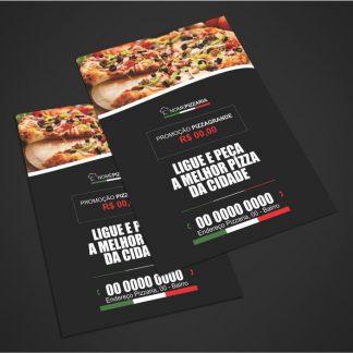 panfleto pizzaria - modelo 03