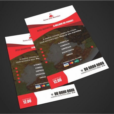 panfleto restaurante e marmitex - modelo 03