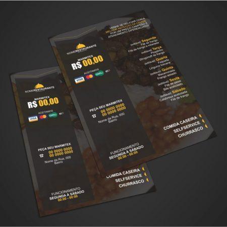 panfleto restaurante e marmitex - modelo 02