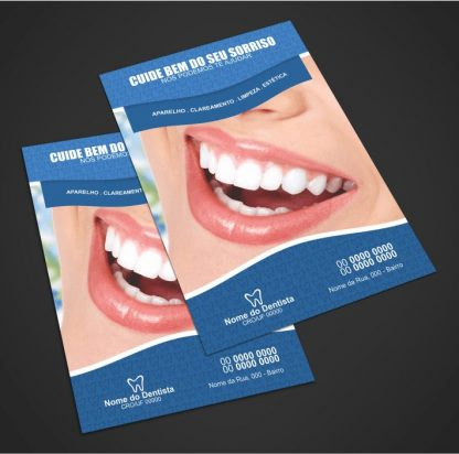 panfleto dentista - modelo 01