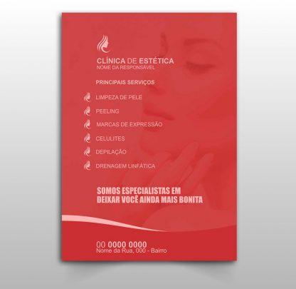 panfleto clinica de estética modelo 01