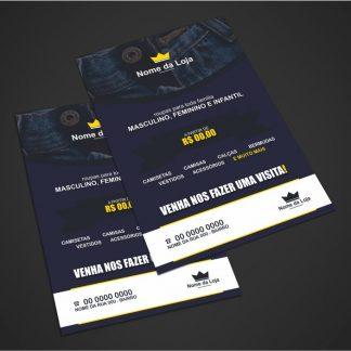 panfleto loja de roupas - modelo 01