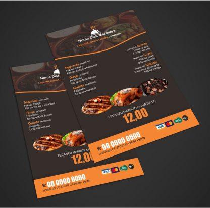 panfleto restaurante e marmitex - modelo 04