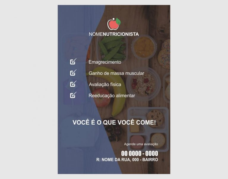 panfleto nutricionista - modelo 01