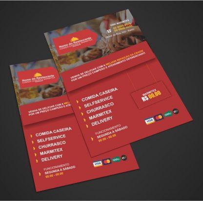 panfleto restaurante e marmitex - modelo 01