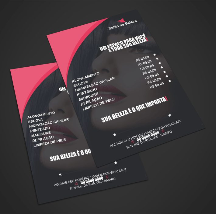 panfleto salão de beleza - modelo 01